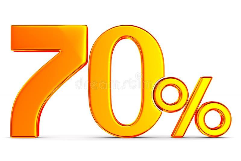 Siebzig Prozent auf wei?em Hintergrund Lokalisierte Illustration 3d stock abbildung