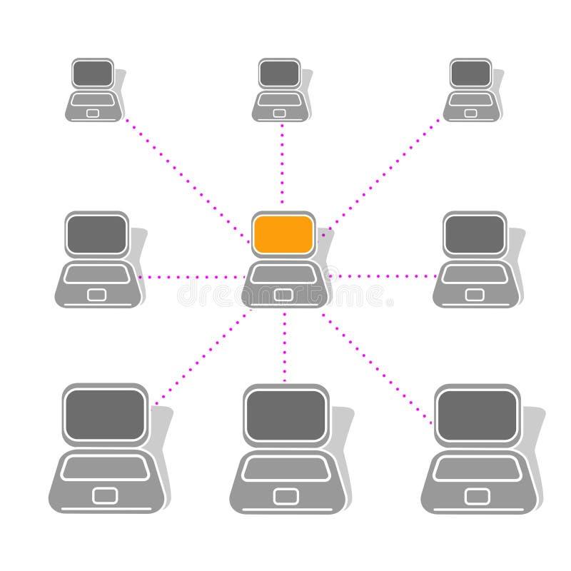 sieci royalty ilustracja