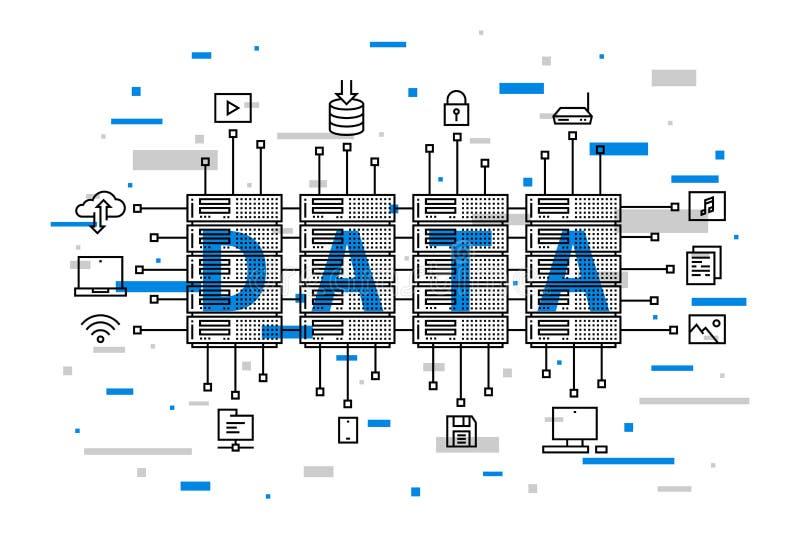 Sieci bazy danych infrastruktury system ilustracji