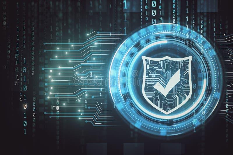 Sieci bezpieczeństwo i interneta tło royalty ilustracja