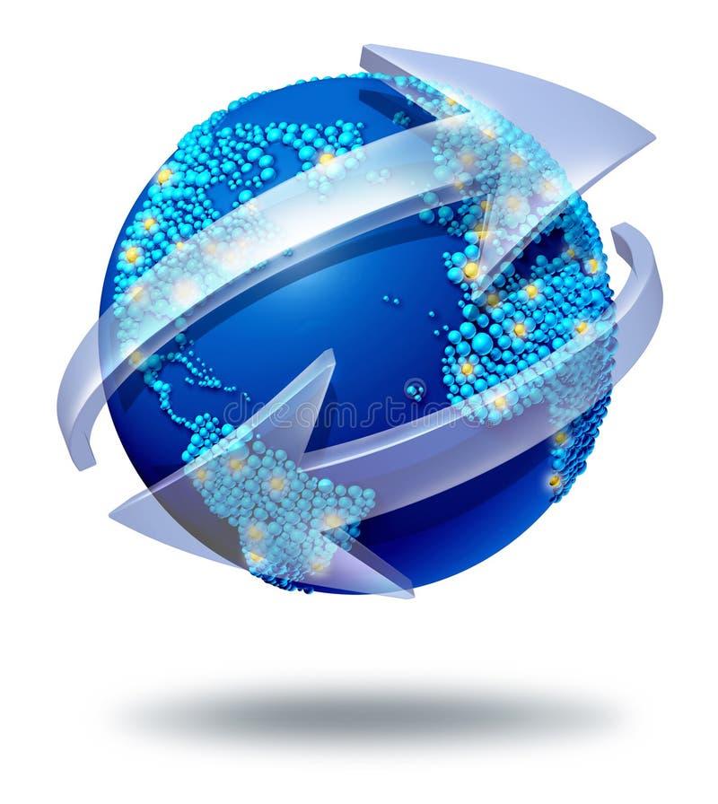 Sieci globalne Komunikacje royalty ilustracja