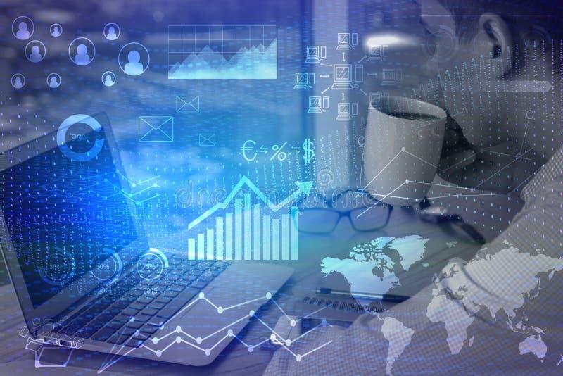 Sieci i księgowości pojęcie obraz stock