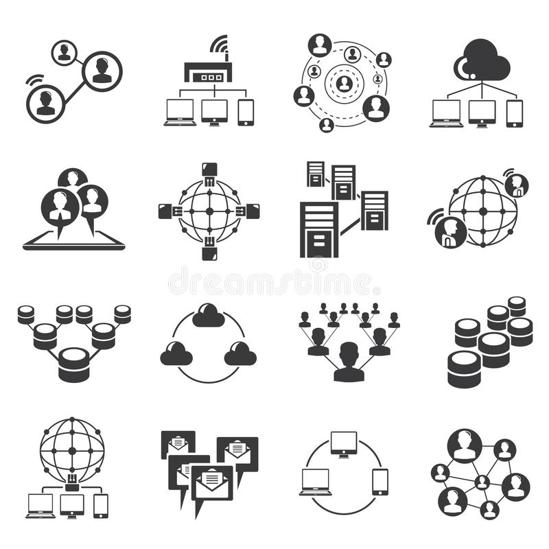 Sieci i socjalny pojęcia medialne ikony ilustracja wektor