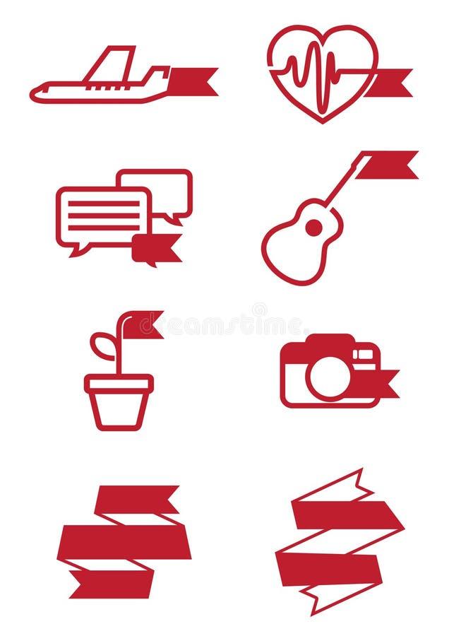 Sieci ikon faborku stylu set zdjęcia royalty free
