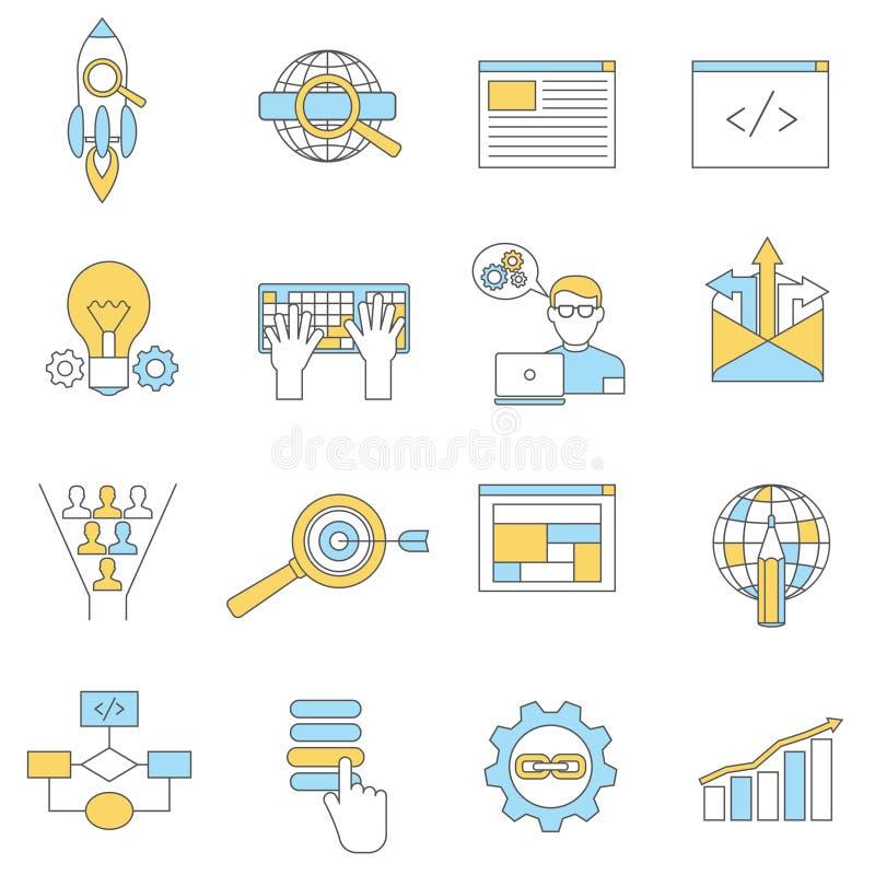 Sieci ikon linia royalty ilustracja