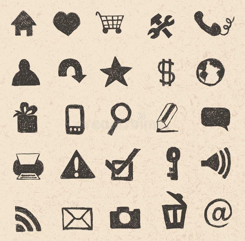 Sieci ikon ręka rysująca ilustracja wektor