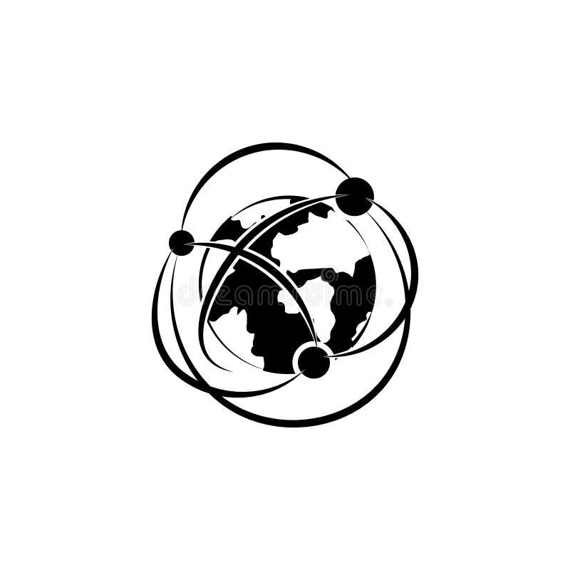 Sieci ikona Globalizacja ikony symbol ilustracji