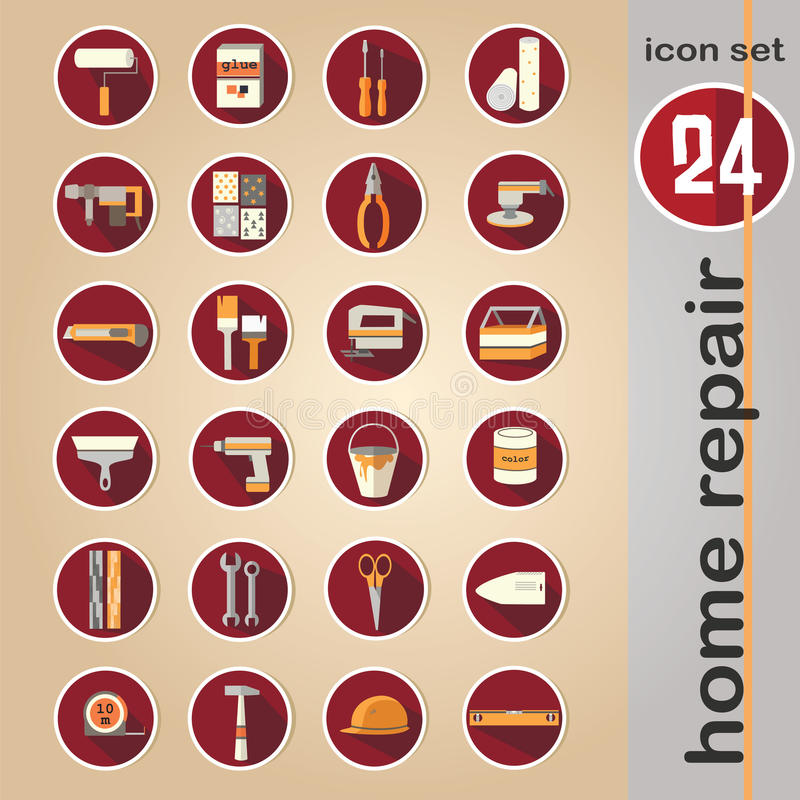 Sieci ikona ustawiająca - domowi napraw narzędzia ilustracji
