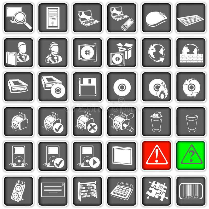Sieci ikony 2 ilustracja wektor