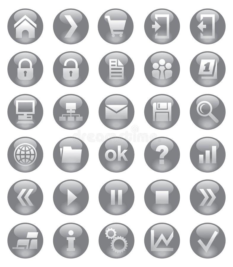 Sieci ikony royalty ilustracja