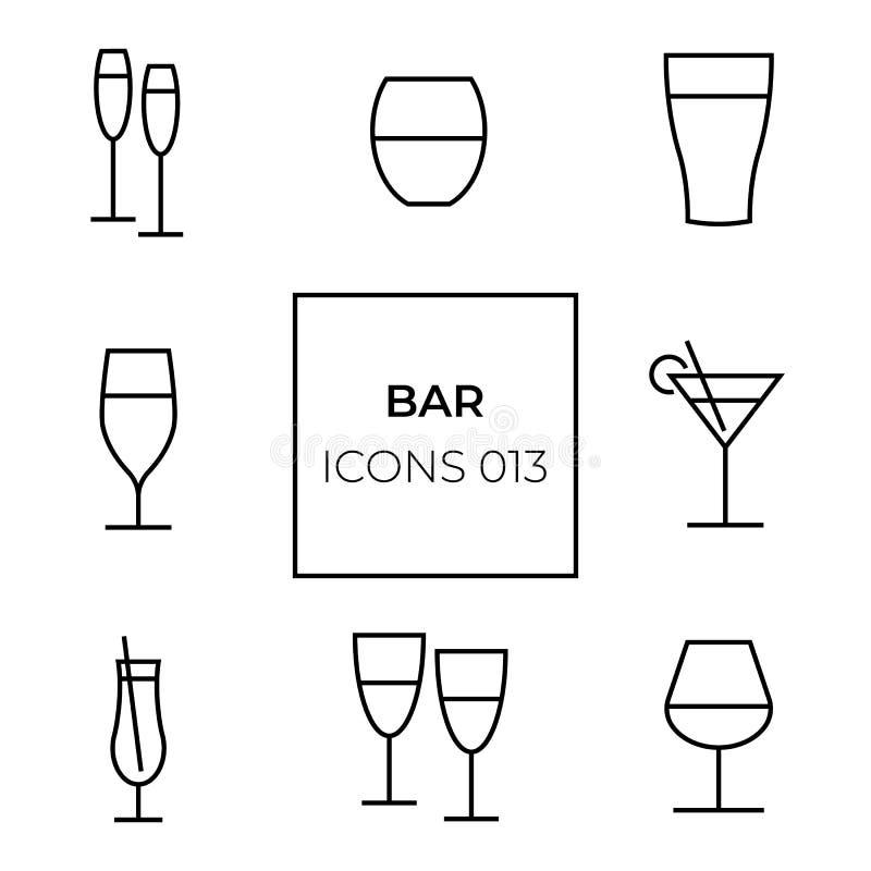 Sieci ikony bar fotografia royalty free