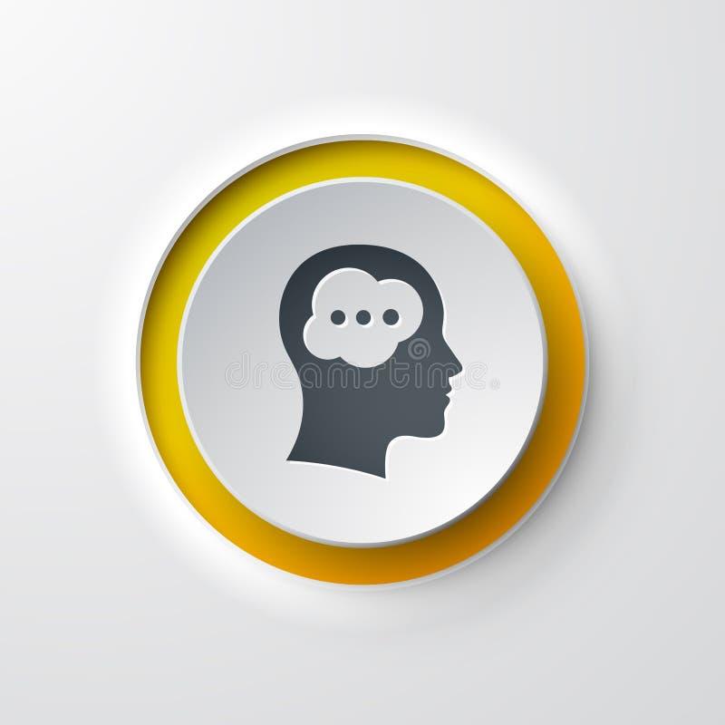 Sieci ikony pchnięcia guzika głowy główkowanie ilustracji
