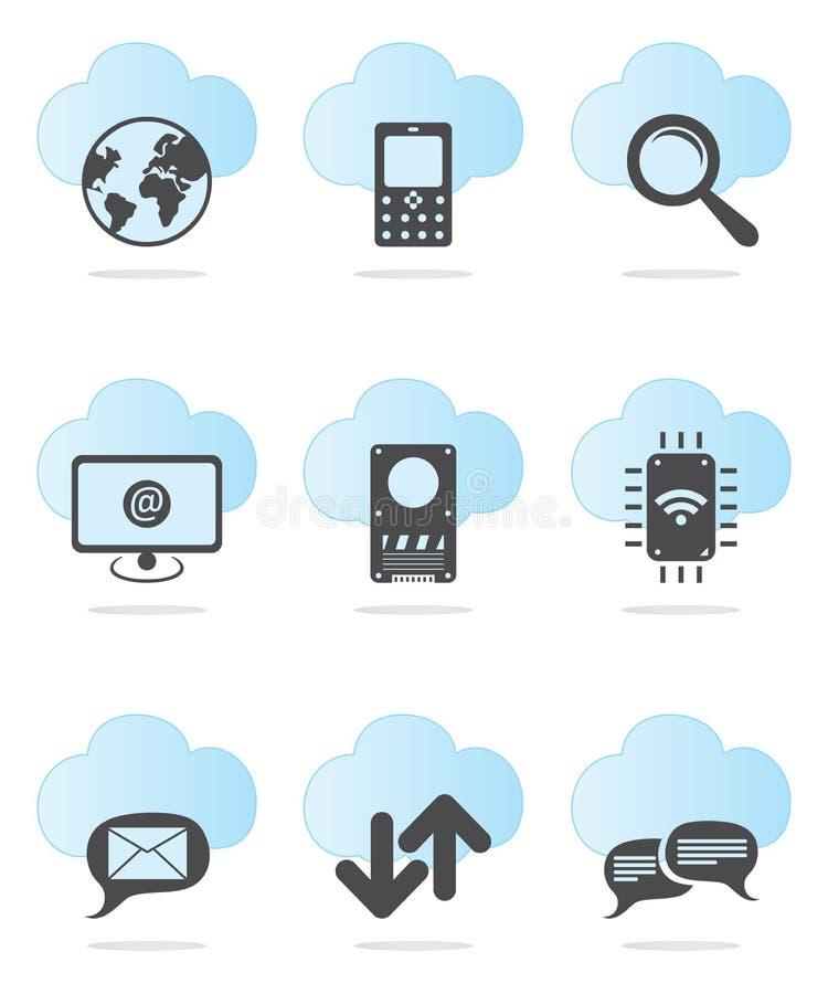 Sieci ikony set ilustracja wektor