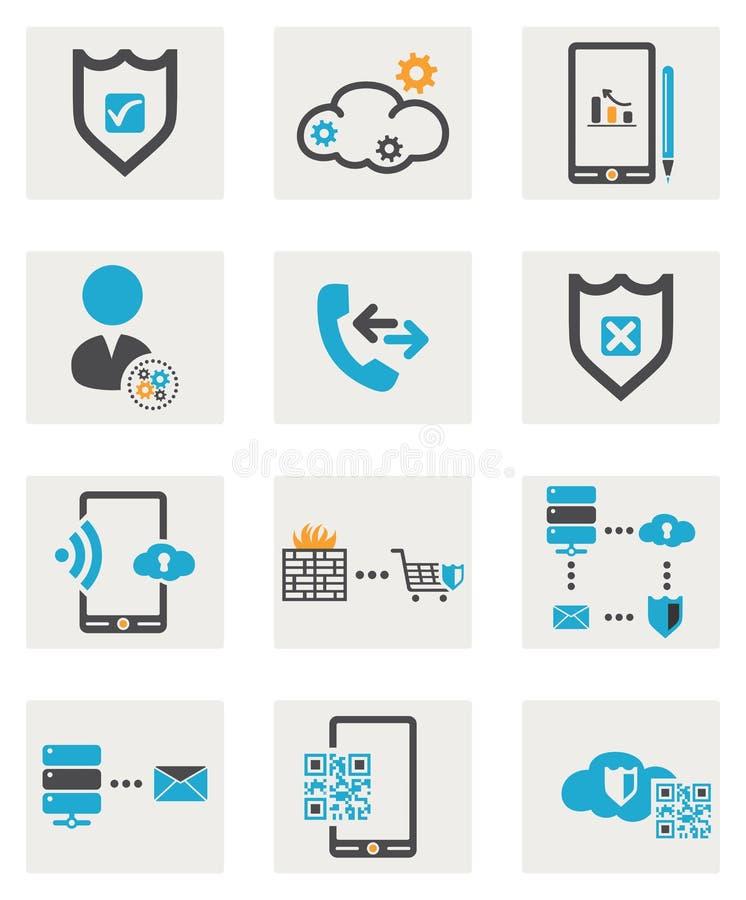 Sieci ikony ustawiać ilustracji