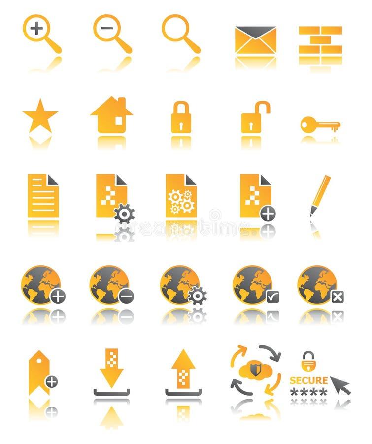 Sieci ikony ustawiać w dwa kolorach zdjęcie royalty free