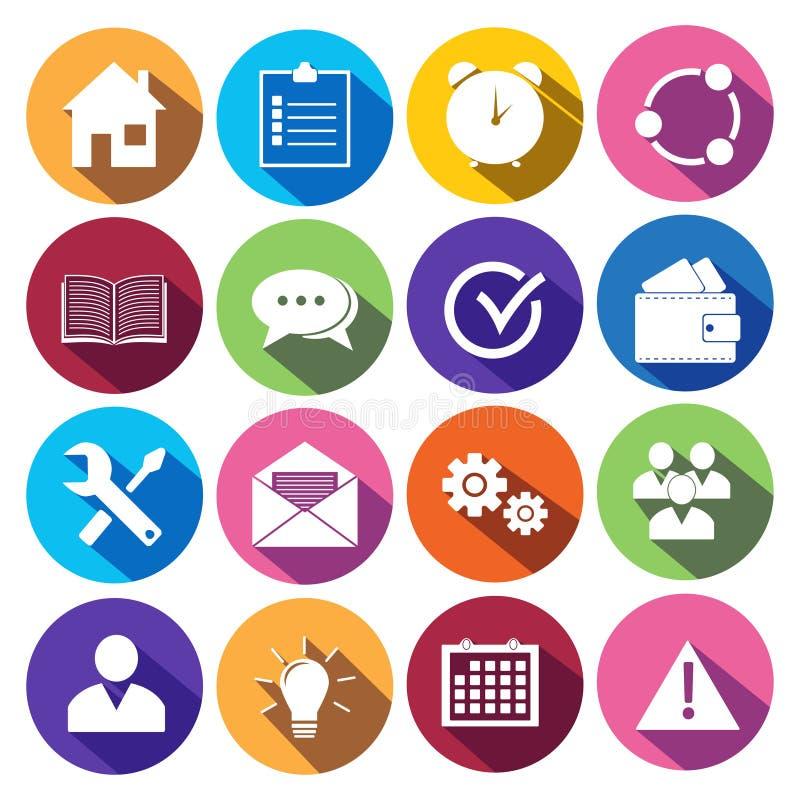 Sieci ikony Ustawiać w Płaskim projekcie ilustracja wektor