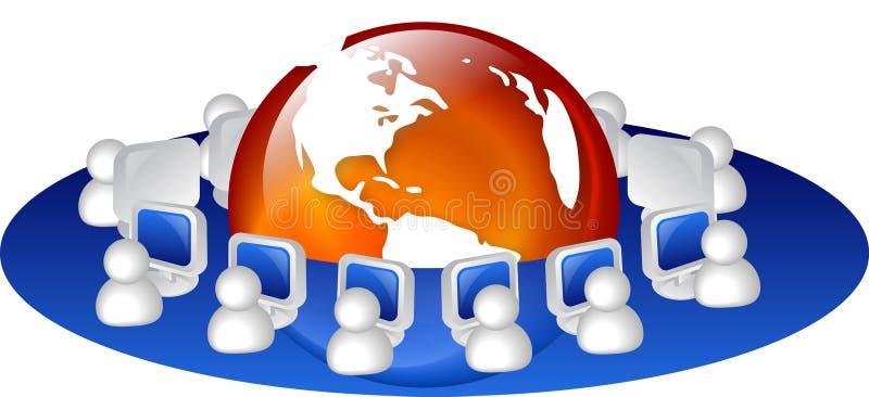sieci internet ilustracja wektor