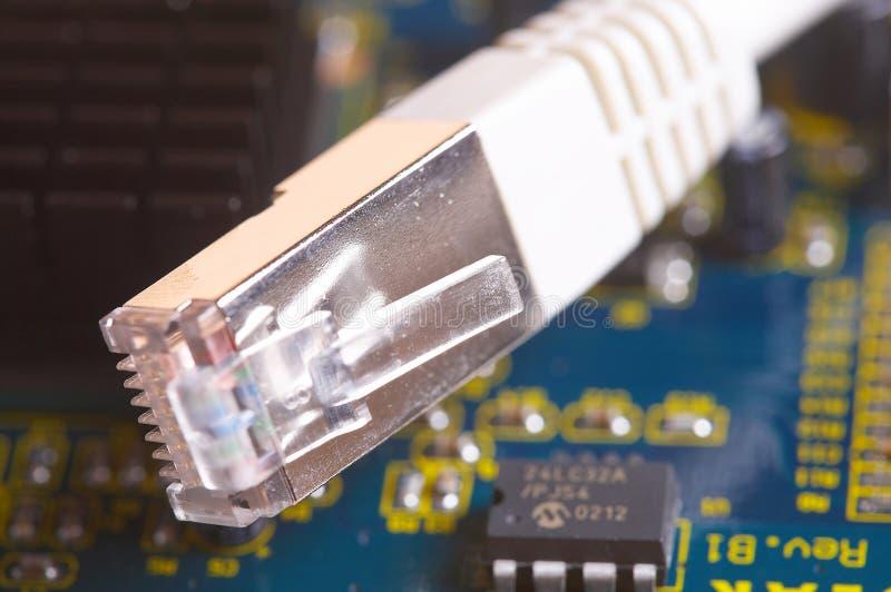 sieci kablowej karty zdjęcia stock