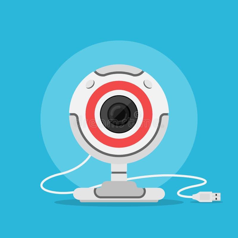 Sieci kamery ikona ilustracja wektor