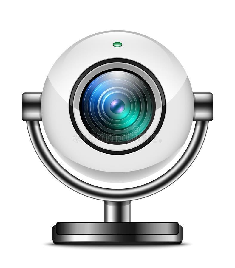 Sieci kamery ikona odizolowywająca na bielu ilustracji