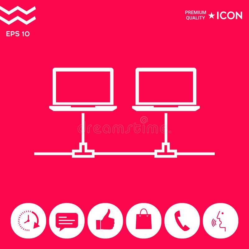Sieci komputerowej ikona ilustracji
