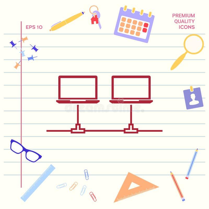 Sieci komputerowej ikona ilustracja wektor