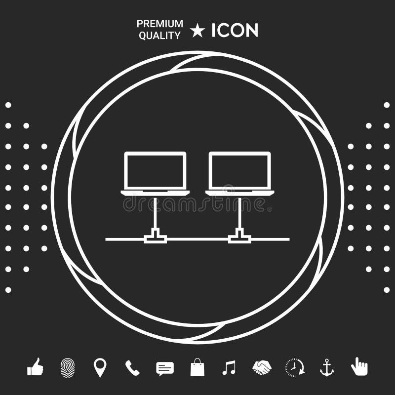 Sieci komputerowej ikona royalty ilustracja