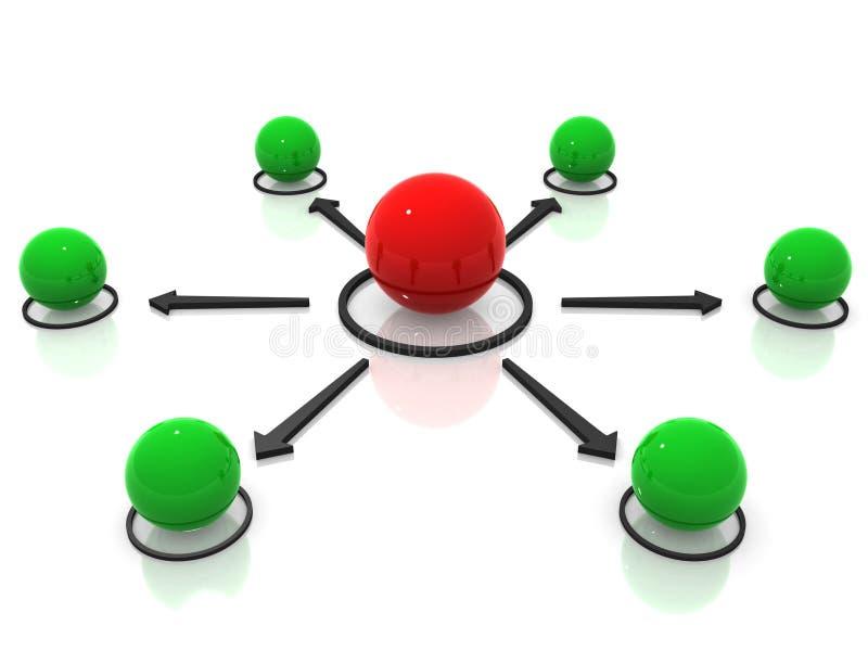 sieci konceptualne sfery obrazy stock