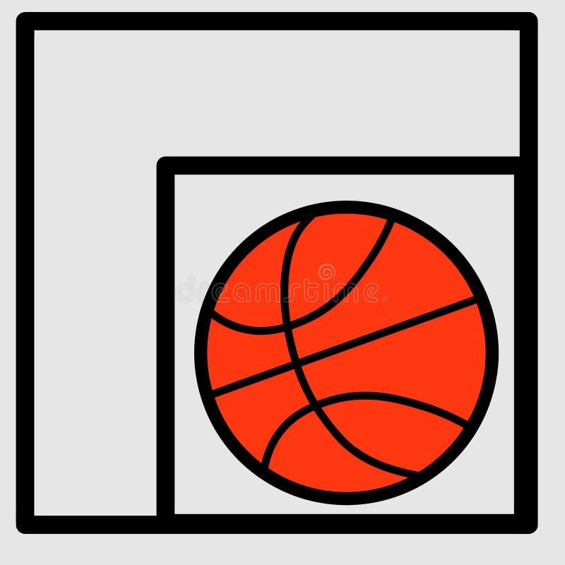 Sieci koszykówka wstawia się ligowego plakatowego projekt Druk na koszulce Sporta wektoru ilustracja ilustracji