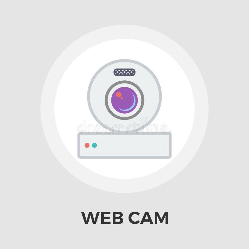 Sieci krzywka mieszkania ikona ilustracja wektor
