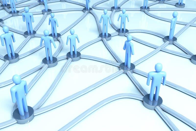 sieci ludzie ilustracja wektor