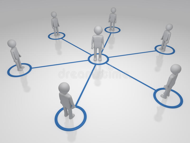 sieci ogólnospołeczne ilustracji