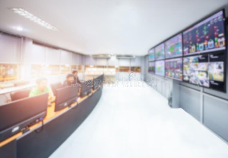 Sieci operacji centrum lub NOC monitoruje pokój, zdjęcie stock