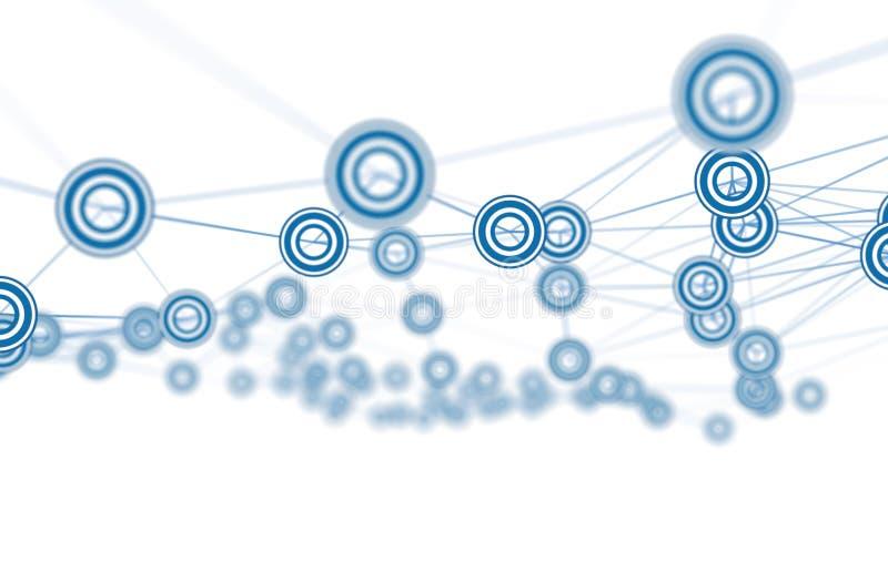 Sieci perspektywiczny poligonalny tło ilustracji
