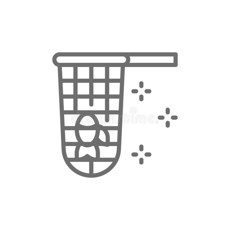 Sieci rybackiej linii ikona royalty ilustracja