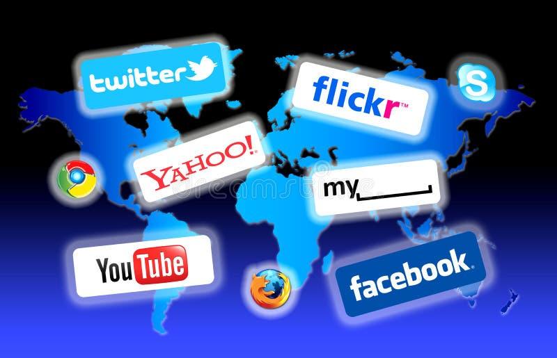 sieci socjalny świat royalty ilustracja