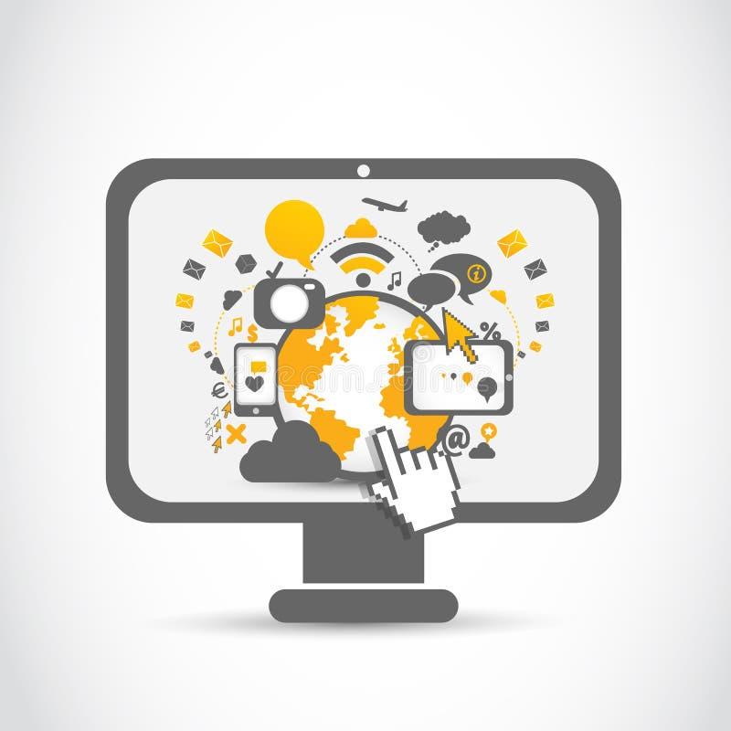 Sieci społeczności sieci technologie royalty ilustracja
