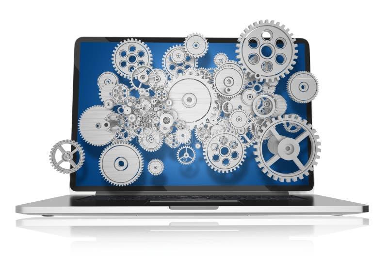 Sieci technologie royalty ilustracja