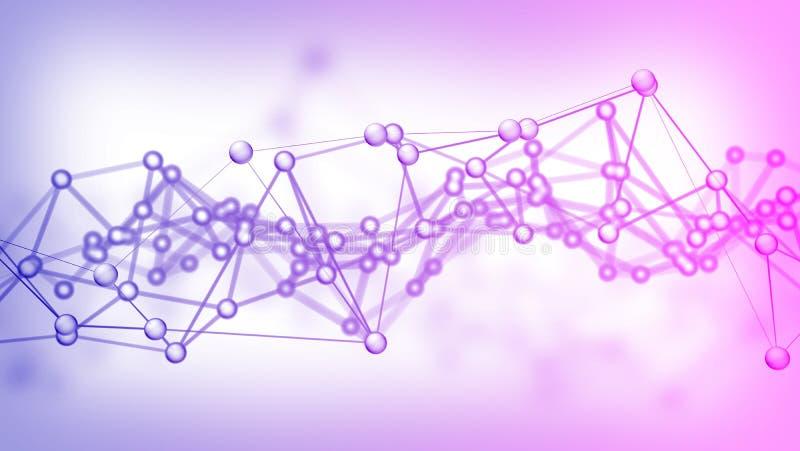 Sieci technologii tła abstrakcjonistyczny związek royalty ilustracja
