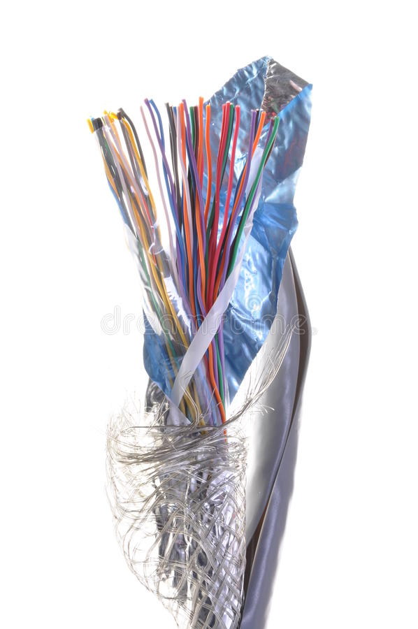 Telekomunikacja kabel fotografia stock