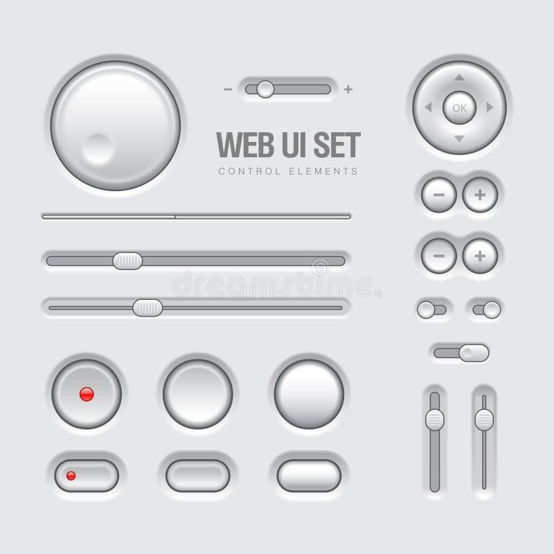 Sieci UI elementów projekta światło - szarość