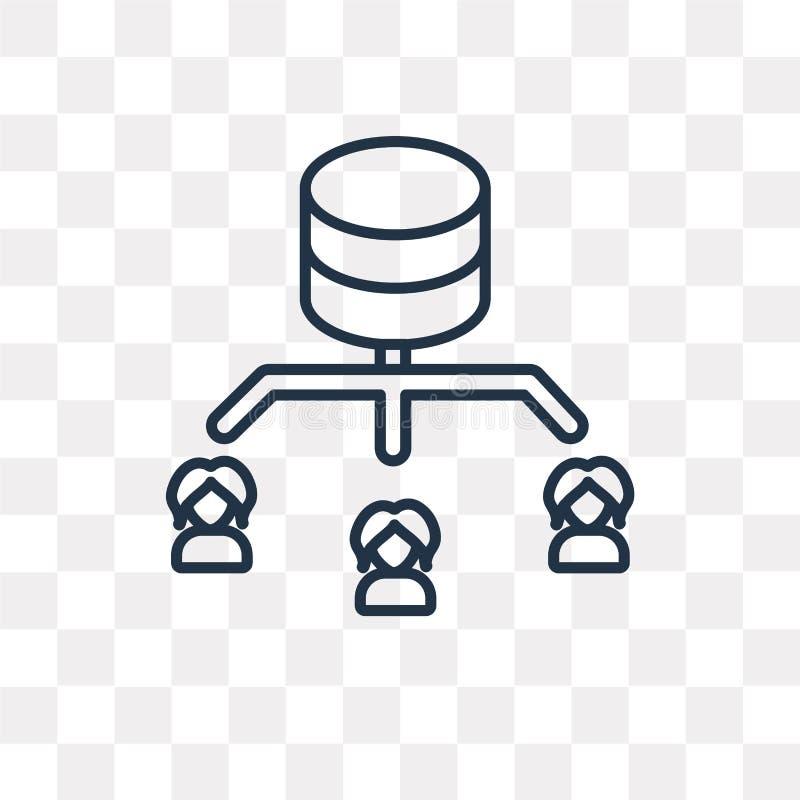 Sieci wektorowa ikona odizolowywająca na przejrzystym tle, liniowy N royalty ilustracja