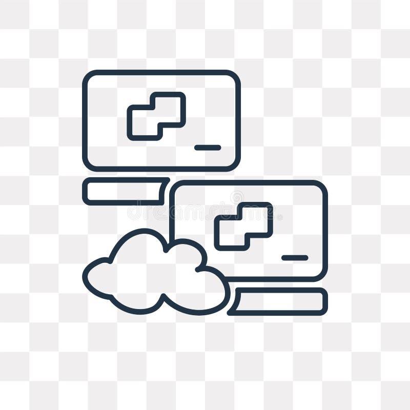 Sieci wektorowa ikona odizolowywająca na przejrzystym tle, liniowy N ilustracja wektor