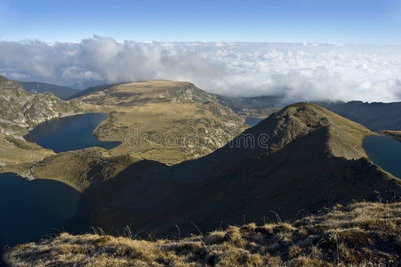 Siedem jezior w Rila górze obraz royalty free