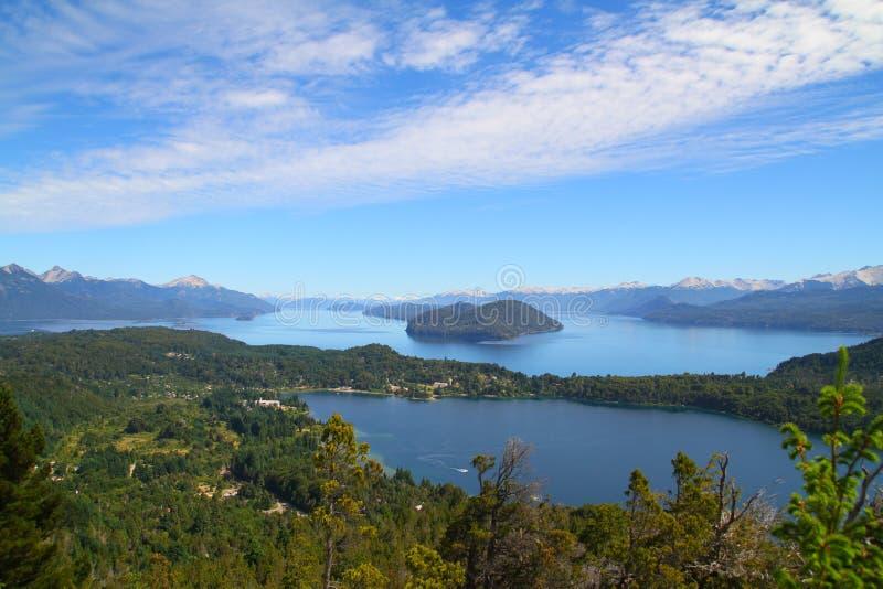 Siedem jezior widok Cerro Campanario, Bariloche - zdjęcie royalty free