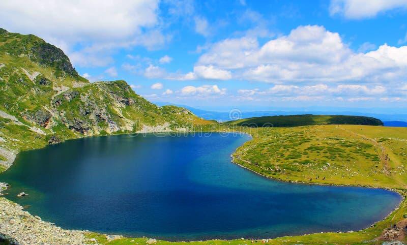 Siedem rila jezior cynaderki sezonu przyciągania podróż popularna obrazy stock