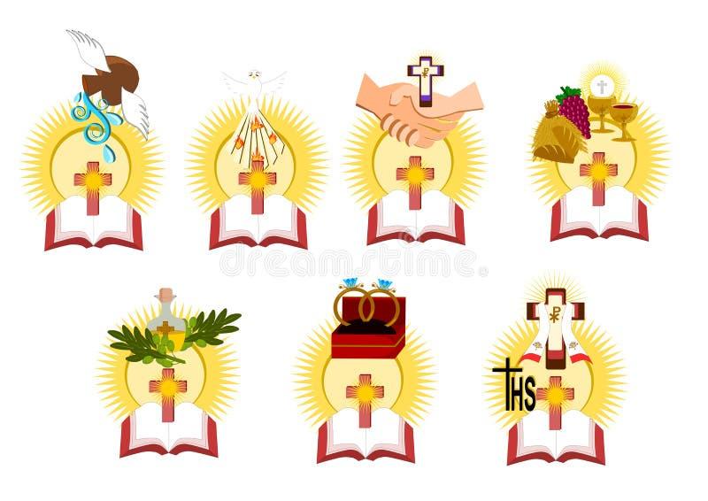 Siedem sakramentów ilustracja wektor