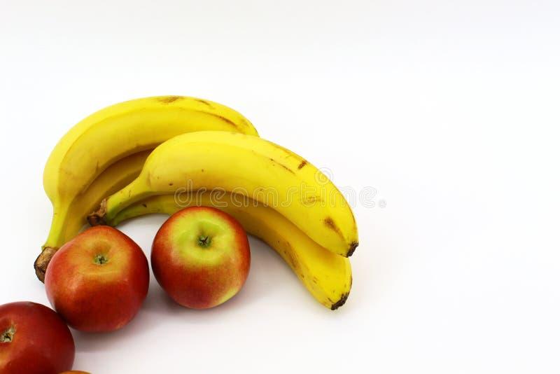 Siedem zdrowych owoc na białym tle fotografia stock