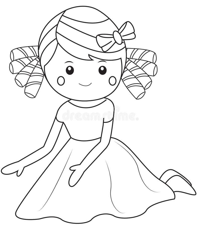 Siedząca dziewczyna ilustracja wektor