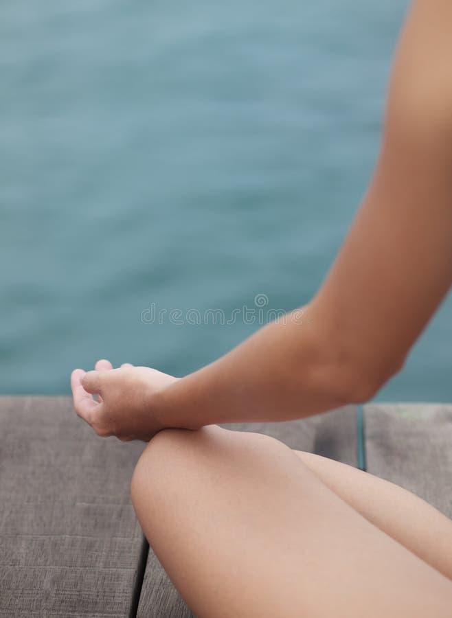 Siedząca medytacja zdjęcia stock